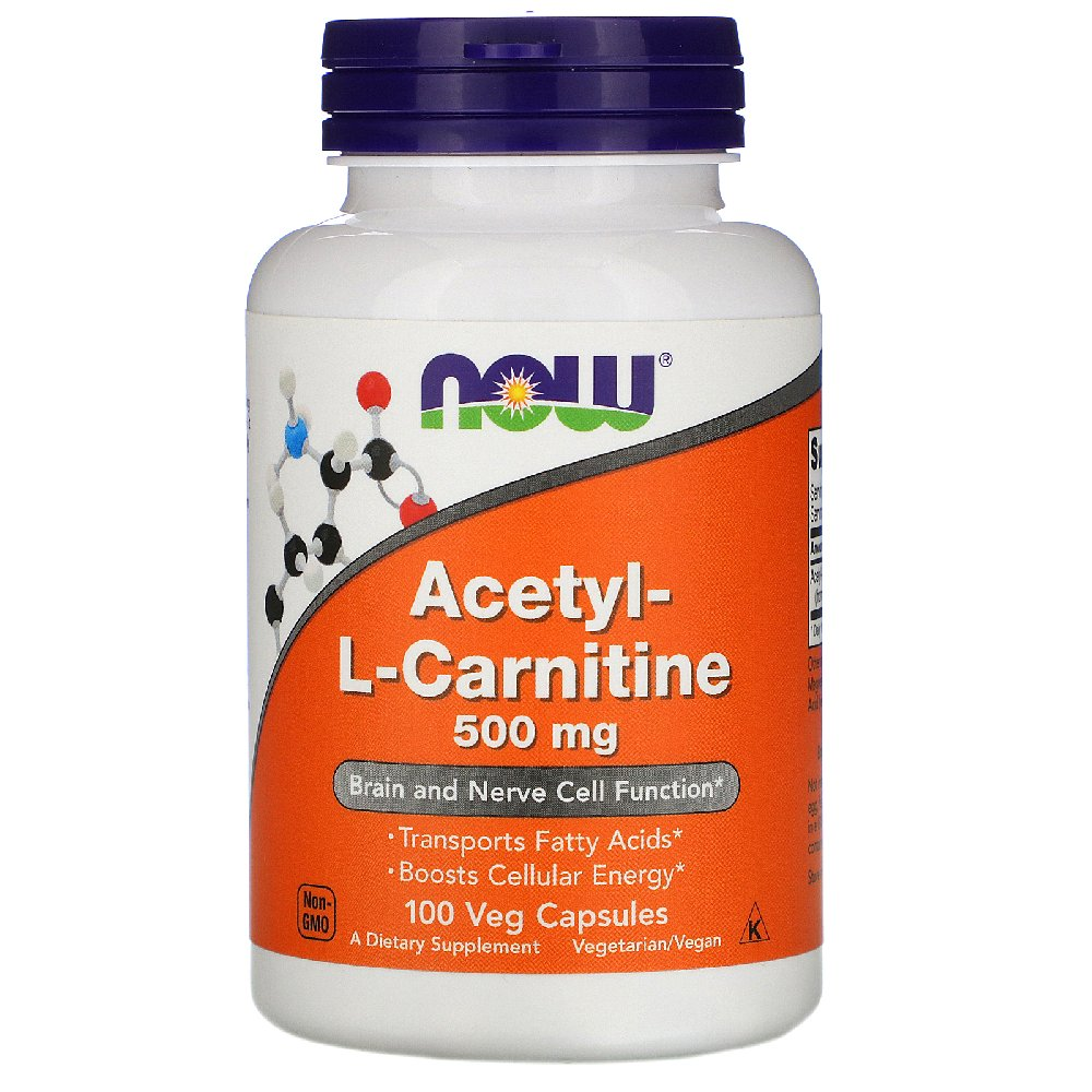 NOW Acetyl - L-Carnitine 500 мг 100 вег.капсул